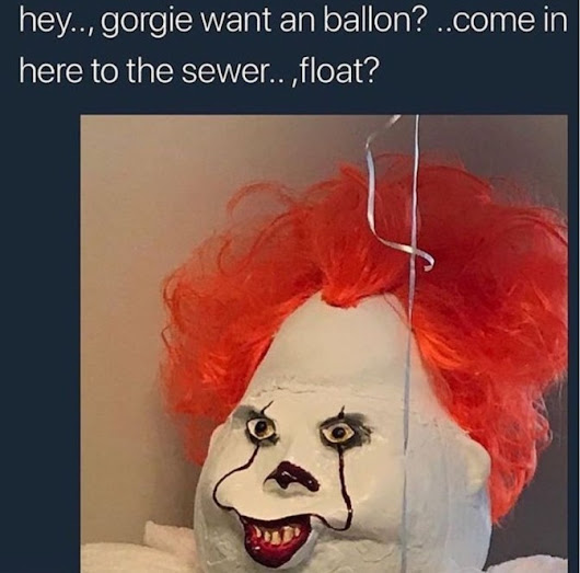 Hey gorgie want an ballon come in here to the sewer float - TrendingCurrentEvents.com