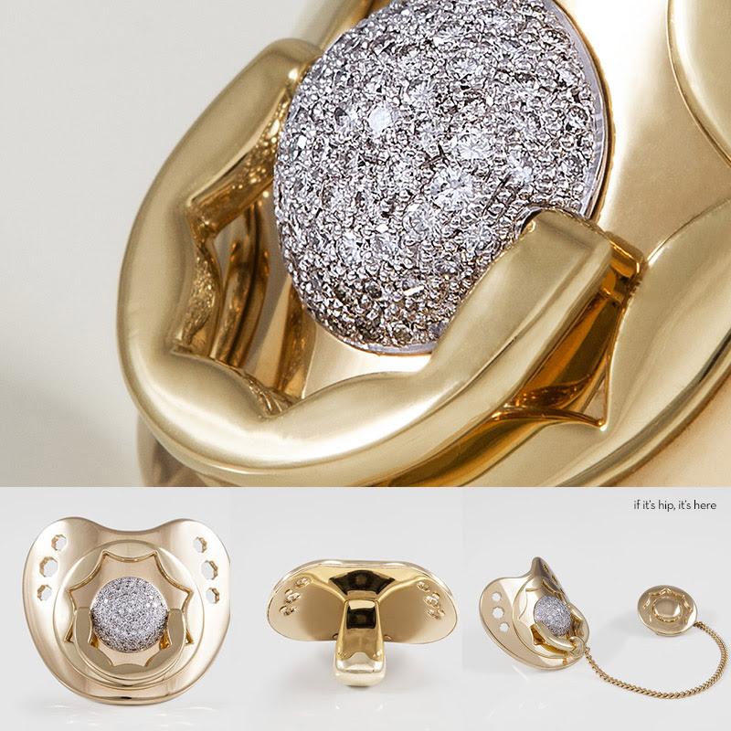 Dodo-Dummy-diamons gold pacifier IIHIH