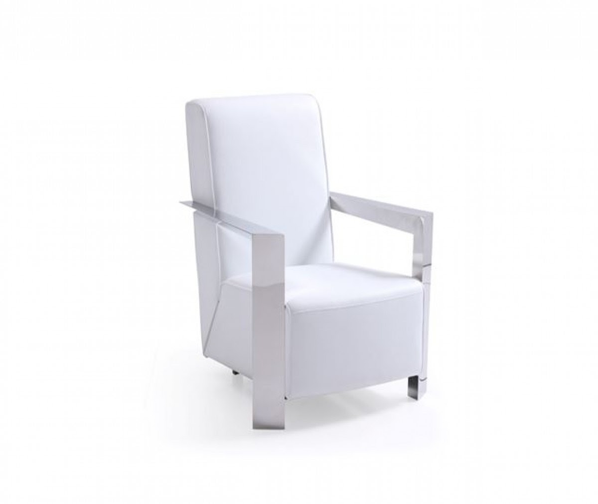 Modrest Niro Modern White Bonded Leather Accent Chair New Products