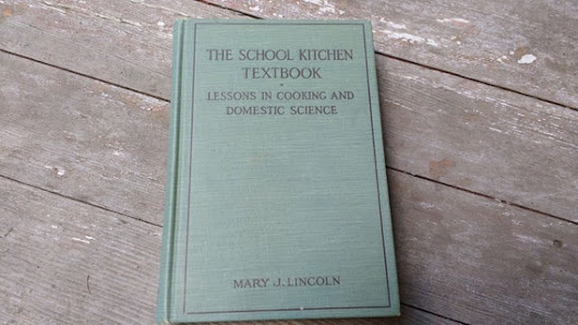 Vintage cookbook The School Kitchen Textbook by by BountifulWoods