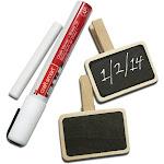 "Chalkboard Clothespins 2.875"" 4/Pkg-"