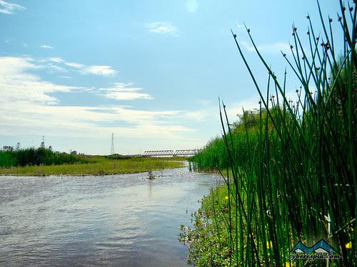 Vista al puente de Reque