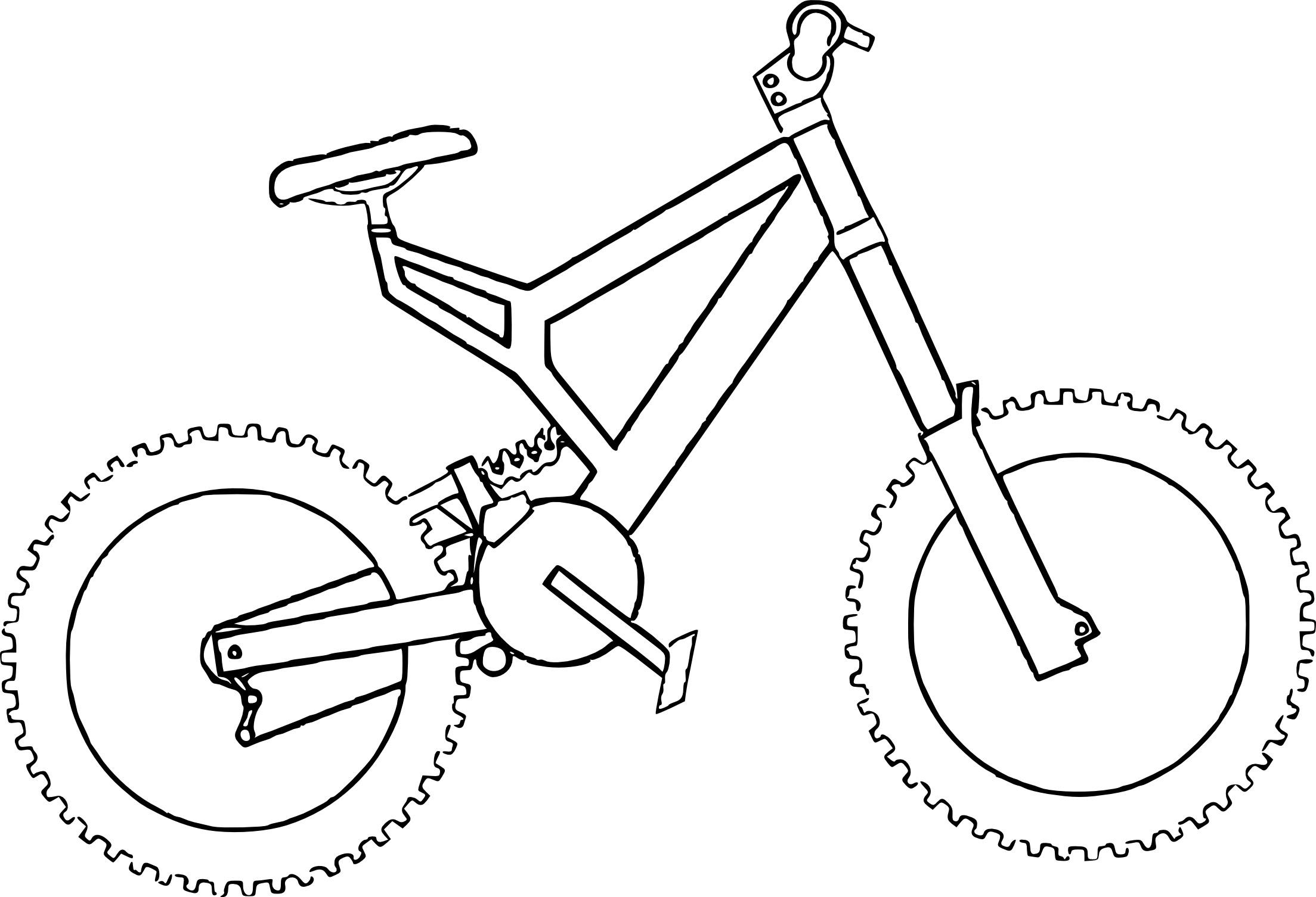 Coloriage de vélo BMX