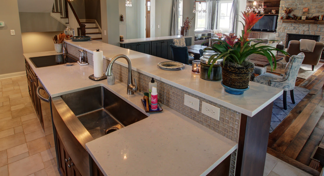 raised top sink and cooktop