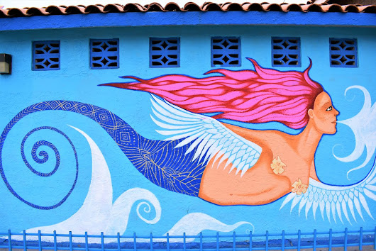 Mermaid on a wall