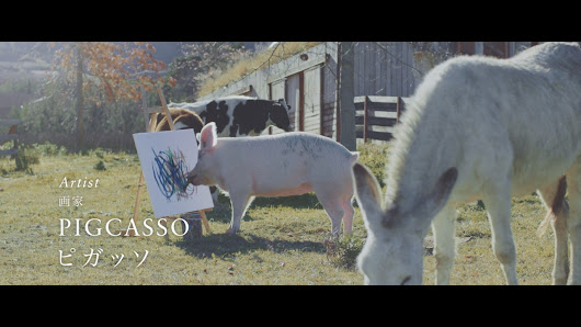 Nissan enlists Pigcasso the painting pig for Skyline campaign