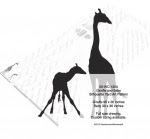 Giraffe and Baby Silhouette Yard Art Woodworking Pattern - fee plans from WoodworkersWorkshop® Online Store - giraffes,ungulates,animals,wildlife,african,yard art,painting wood crafts,scrollsawing patterns,drawings,plywood,plywoodworking plans,woodworkers projects,workshop blueprints