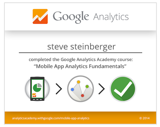 Google Analytics Mobile Certified