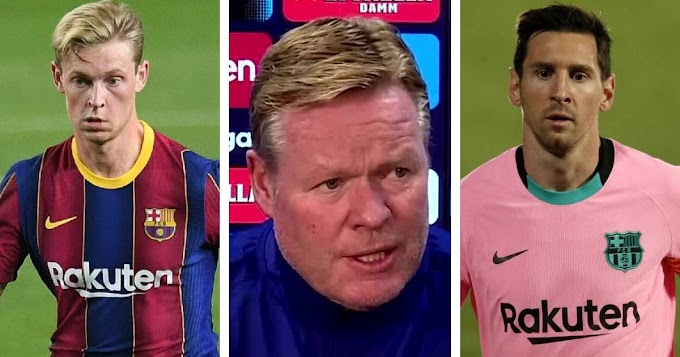 Barcelona manager Koeman provides update on De Jong and Messi
