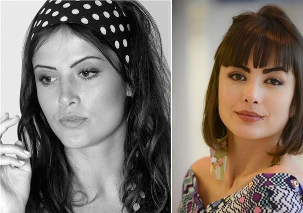 Para viver Patrícia, em Amor à Vida, Maria Casadevall cortou as madeixas e engrossou as sobrancelhas (Foto: Instagram/Rede Globo)
