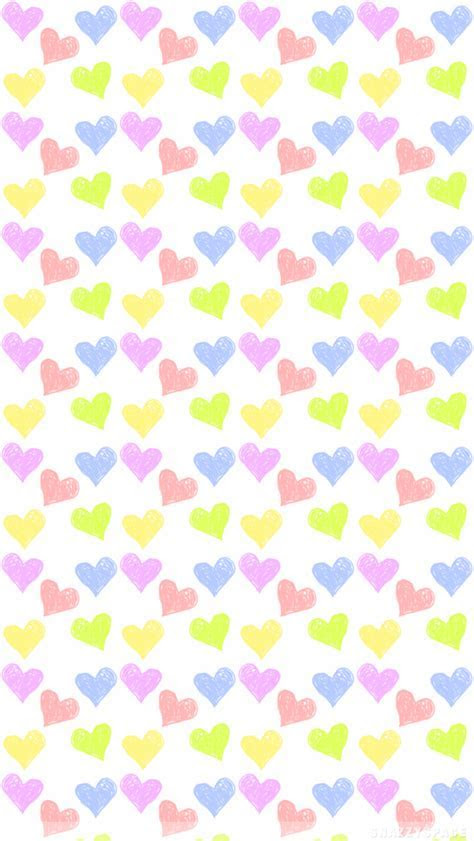 Pastel Hearts iPhone Wallpaper