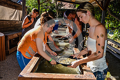Editorial Stock Photo: Gold Panning