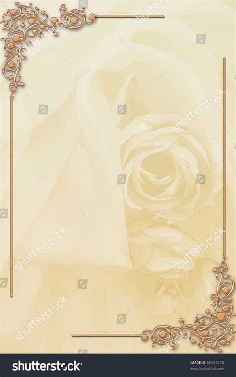 Illustration Border Design Wedding Card Formal Stock