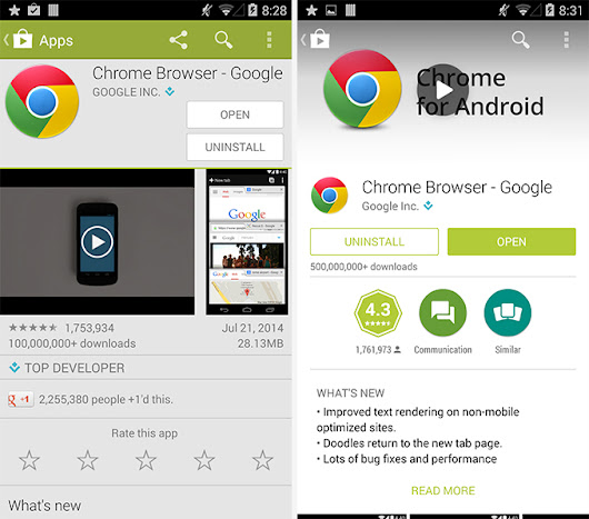 Google Play Store Redesign Begins Rolling Out on Android