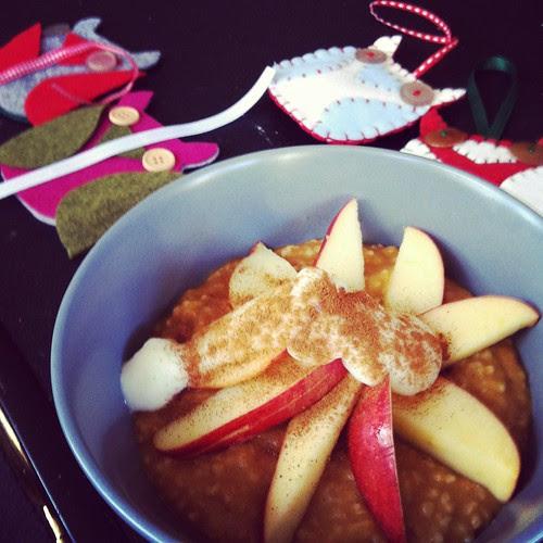 pumpkin oatmeal and ornaments