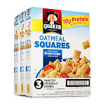 Quaker Oatmeal Squares Cereal Variety Pack - 3 Boxes
