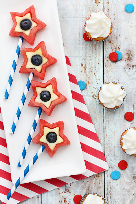 4th of July  Dessert: Fruit Pops
