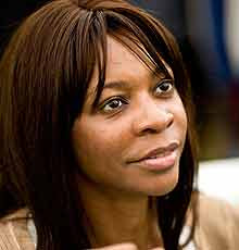 Dambisa Moyo, author of Dead Aid: Why Aid is Not Working and How There is a Better Way For Africa', at the Hay festival last year