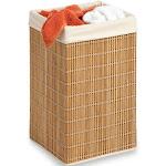 Honey Can Do Bamboo Wicker Square Hamper