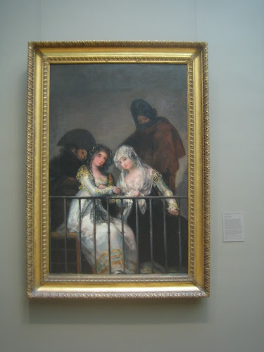 Majas on a Balcony, Attributed to Francisco de Goya y Lucientes _8323