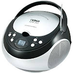 Naxa Portable CD Player with AM FM Radio Black NPB251BK