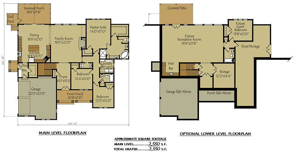 Two Story Cottage Lake House  Plan  with garage  and optional
