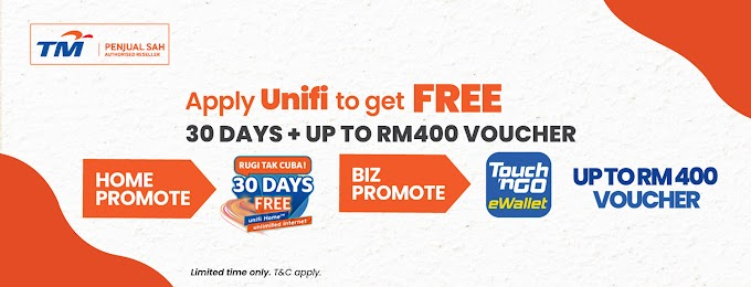 1 month FREE on your Unifi plan.