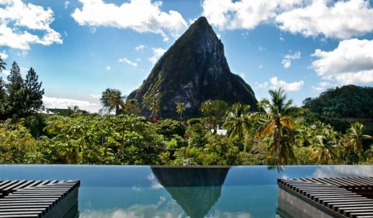 vista desde Hotel Chocolat, St. Lucia