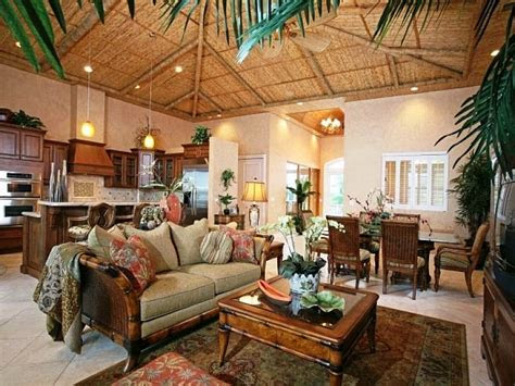 tropical home decor ideas  vintage design living