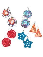 Crochet Earrings - Electronic Download