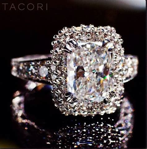 Big bold diamond engagement rings paired with a simple