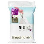 simplehuman Custom Fit Code K 10 gal. Trash Bag Liner Drawstring 20 pk - Case Of: 1; Each Pack Qty: 20; Total Items Qty: 20
