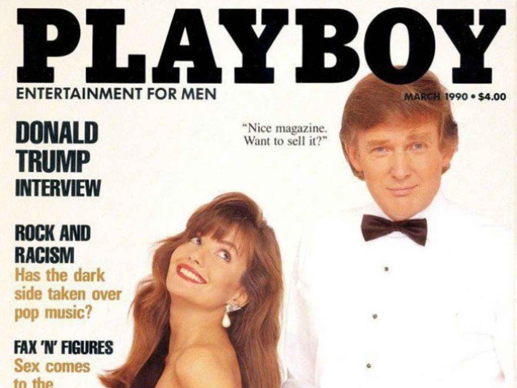 Trump en la portada de la revista Playboy.