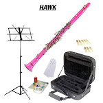 Hawk Pink BB Clarinet Package with Case Reeds Music Stand Cleaning K