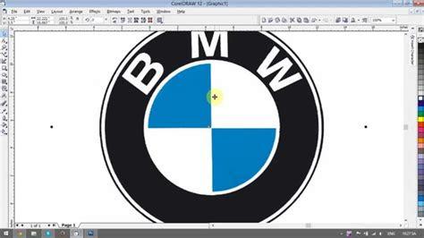 creating bmw logo coreldraw tutorial youtube