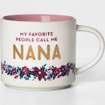 16oz Porcelain My Favorite People Call Me Nana Mug White/Pink - Threshold