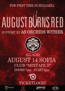 Последни подробности за концерта на AUGUST BURNS RED