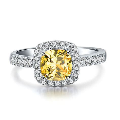 2 3 Carat Yellow Diamond Rings   Wedding, Promise, Diamond
