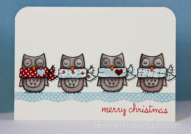 Winter Owl Merry Christmas (1 von 1)