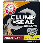 Arm & Hammer Clump & Seal Complete Odor Sealing Litter, Multi-Cat - 28 lbs (12.7 kg)