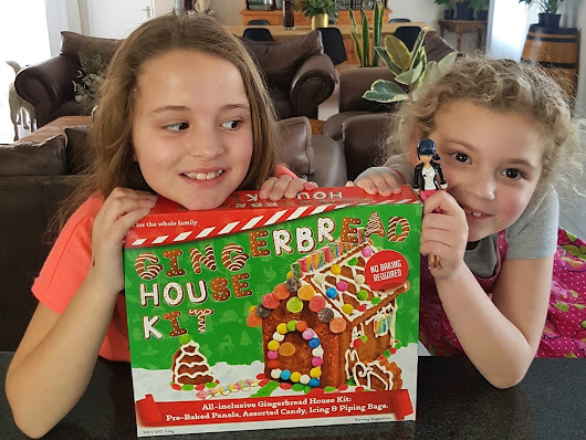 We built a Gingerbread House and you can win a kit to build your own! - Pretty Please Charlie