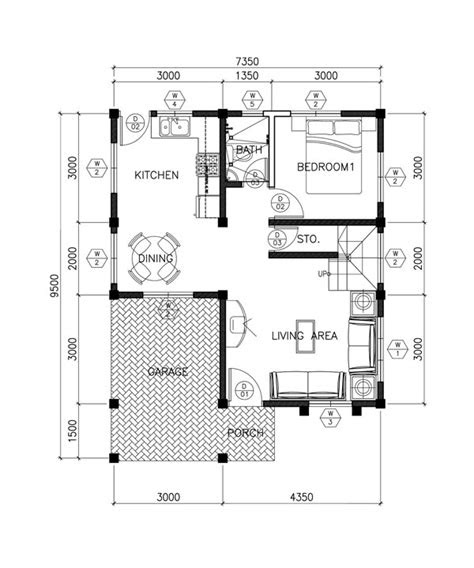 story contemporary house plan  open
