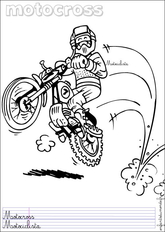 Coloriage Moto De Course Coloriages à Imprimer Gratuits