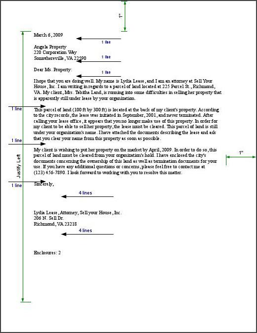 Business Letter Format Tasarman Web