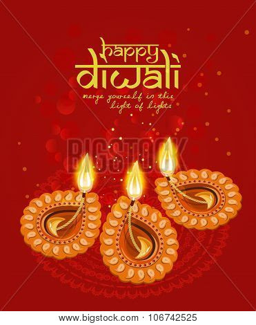 Vector Greeting Card For Hindu Community Festival Diwali Poster Id