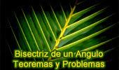 Bisectriz de un Angulo, Teoremas y Problemas.