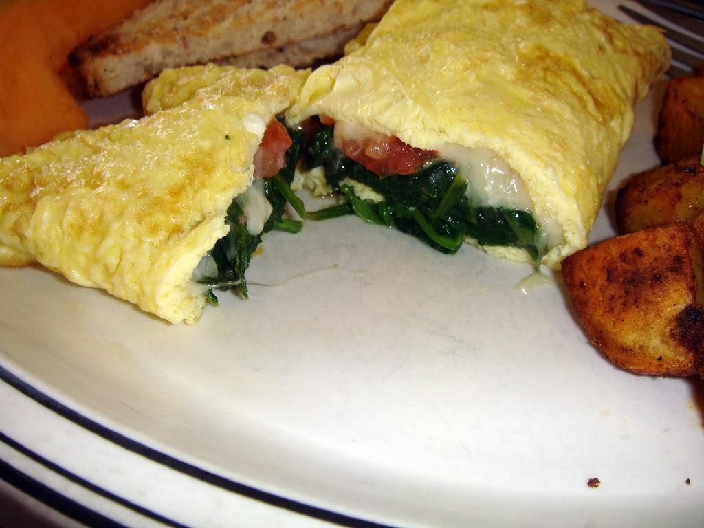 Omelet interior