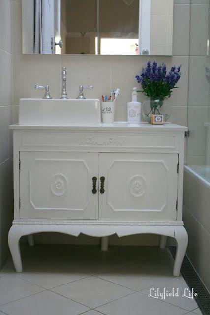 Lilyfield Life: Turning vintage furniture into a bathroom vanity
