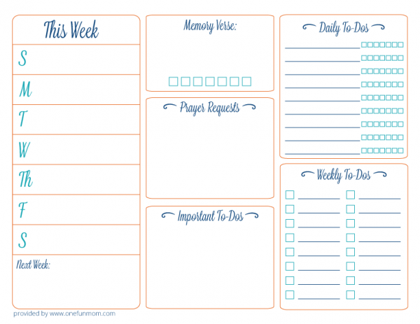 Planner Printable Images Gallery Category Page 24 - printablee.com