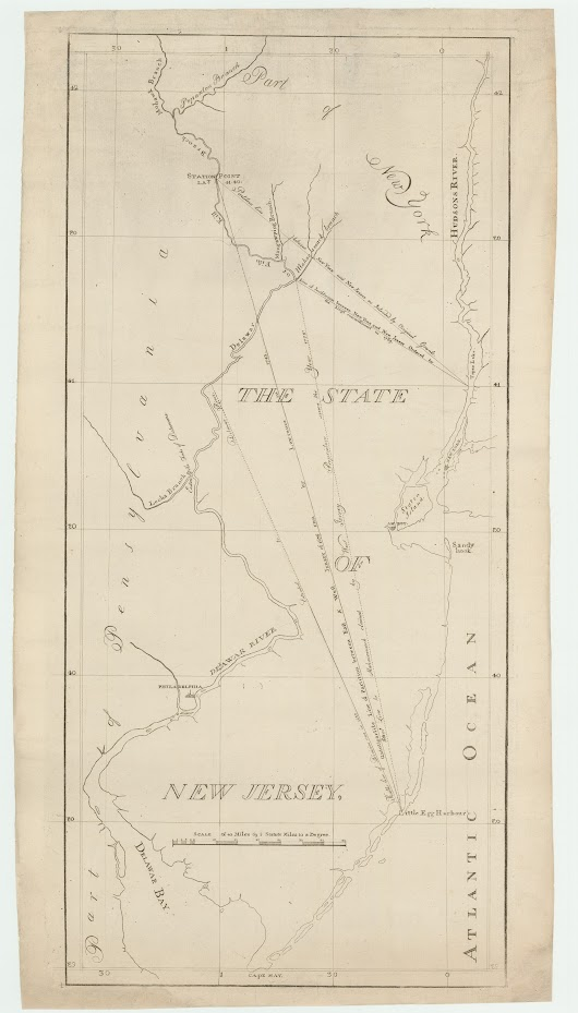 The first map of New Jersey to be printed in America, for the West Jersey Proprietors - Rare & Antique Maps